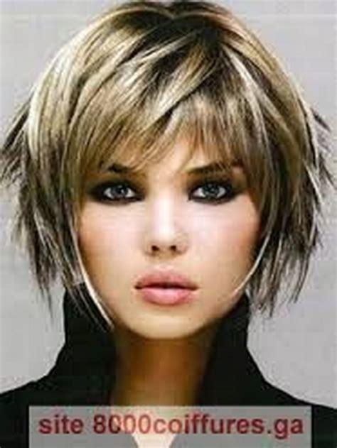 modele de coiffure visage rond