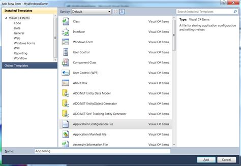 How To Add App.config File In Console Application
