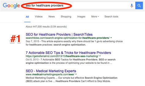 Search Engine Optimisation Provider by Search Engine Optimization For Healthcare Providers