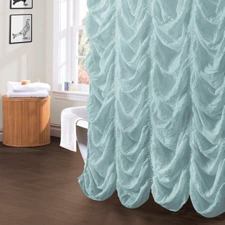 lush decor madelynn shower curtain     sea foam