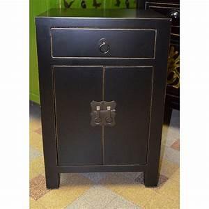 Petit Meuble Noir : petit meuble noir laque maison design ~ Teatrodelosmanantiales.com Idées de Décoration