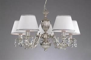 Kronleuchter Mit Lampenschirm : kronleuchter aus nikel farbe mit weiss lampenschirm reccagni store ~ Markanthonyermac.com Haus und Dekorationen