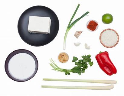 Tofu Coconut Poached Curry Lemongrass Title