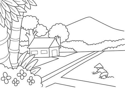 gambar mewarnai gunung untuk anak sd tk dan paud
