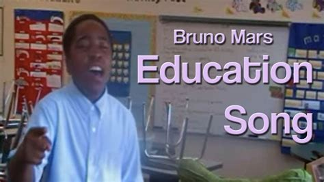 bruno mars education song youtube