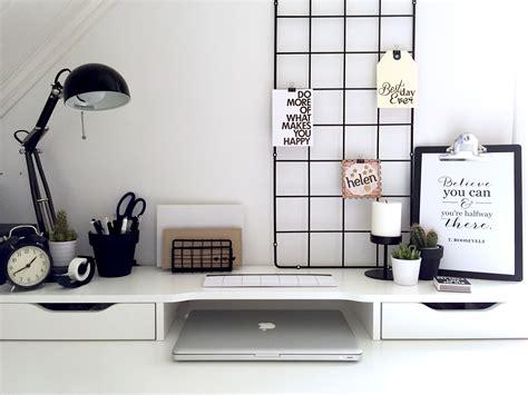 ikea black and white desk minimalist black and white workspace ikea alex desk