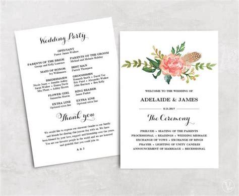 wedding program template text floral wedding program template printable wedding programs affordable wedding programs