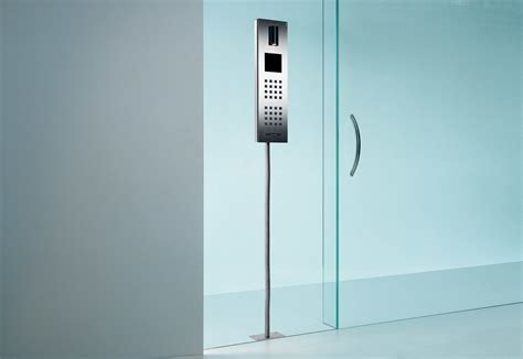 Steel Intercom system glass mounted by Siedle   STYLEPARK