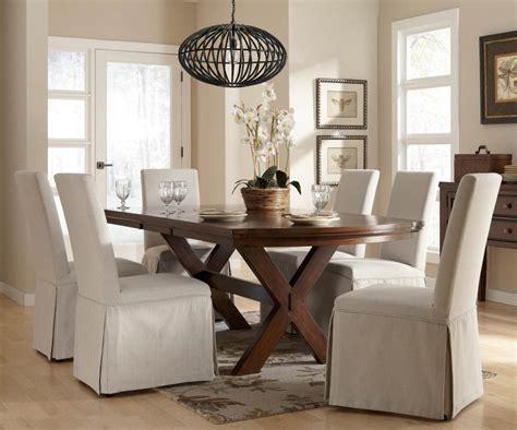 elegant slipcover  dining room chairs stylish