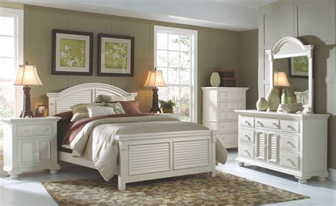 Cottage Bedroom Set by Cottage Traditions White Panel Bedroom Set From American