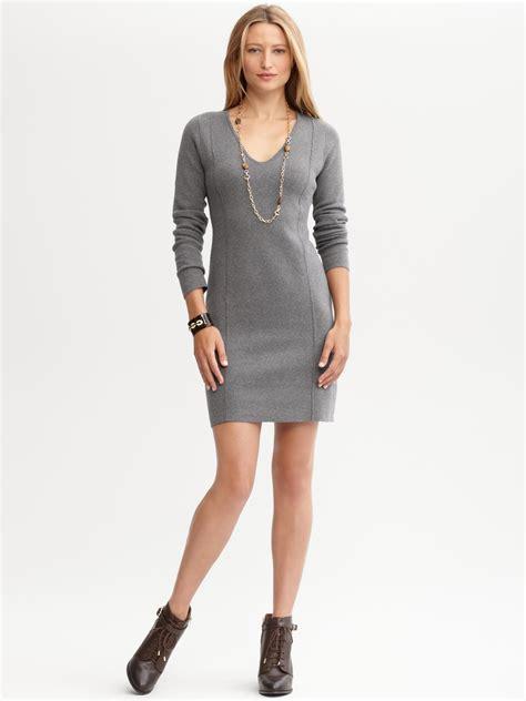 cardigan dress banana republic v neck sweater dress in gray gracious