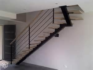 Escalier Quart Tournant Droit Haut by R 233 Alisation Escalier Limon Central Acier 1 4 Tournant Haut