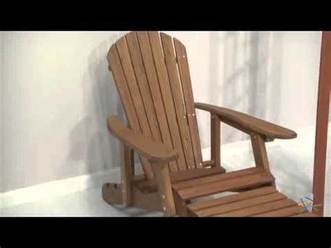 big reclining adirondack chair with pull out ottoman