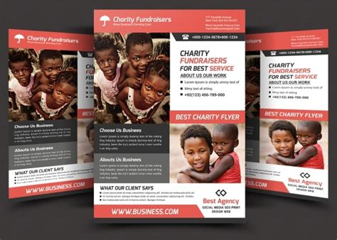 elegant charity flyer templates creatives word