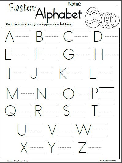 easter letter writing practice madebyteachers
