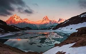 Download, Wallpaper, 1920x1200, Mountains, Lake, Sunset