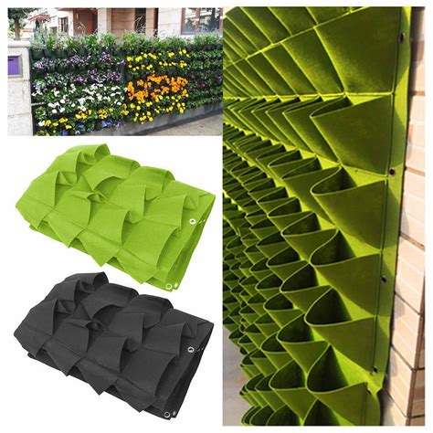 Vertical Wall Garden Planter by 72 Pocket Planting Bag Hanging Wall Vertical Planter
