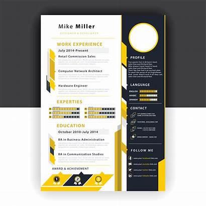 Vector Yellow Resume Template