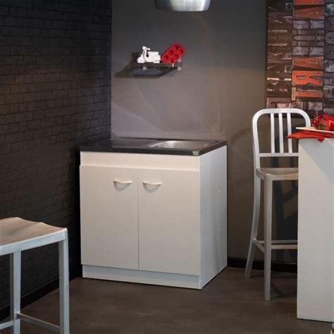 evier cuisine 80 cm meuble sous evier avec evier 1 bac achat vente meuble
