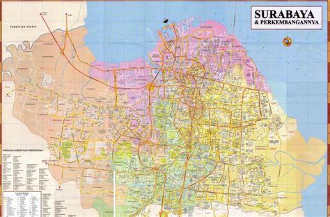 gambar peta lengkapfoto kotajalan gambar peta surabaya
