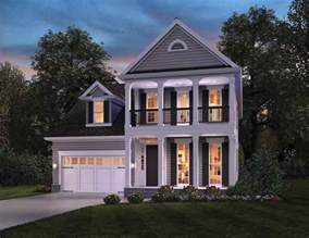 contemporary colonial house plans narrow lot house plans
