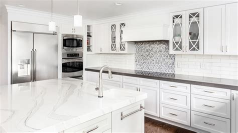 Quartz For Kitchen Countertops by Quartz Vs Granite Better Countertop Material Consumer