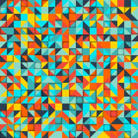 Abstract Colorful Geometric Shapes Background by Abstract Background Mosaic Of Colorful Geometric Shapes