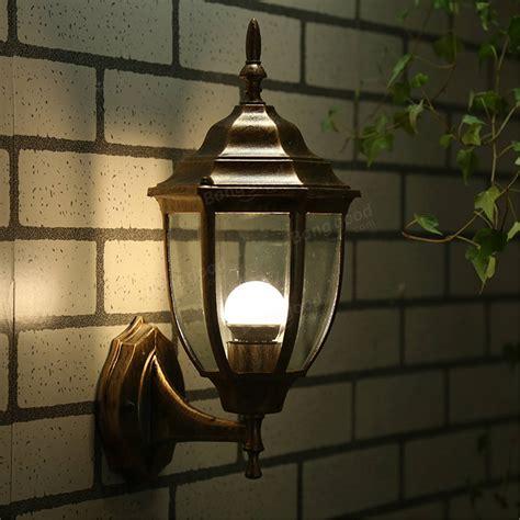 e27 bulb base outdoor wall light exterior fixture bronze