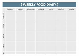 7 best images of printable 7 day food journal printable With food diaries templates