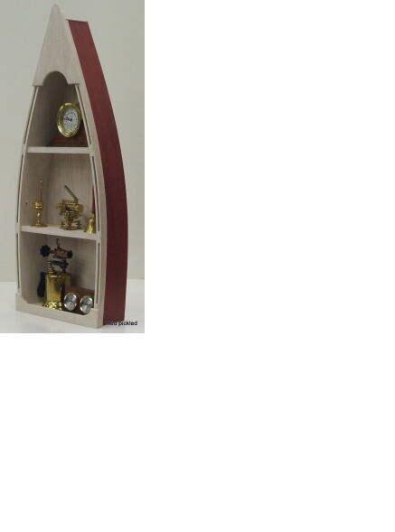 Rowboat Bookcase by 4 Custom Handmade Wood Boat Shelf Skiff Canoe Rowboat