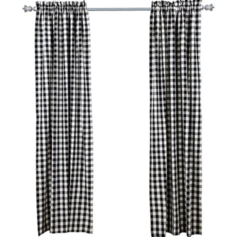 buffalo black check curtain panels