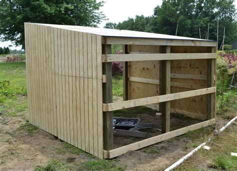 building shelter  miniature donkeys  goats farm