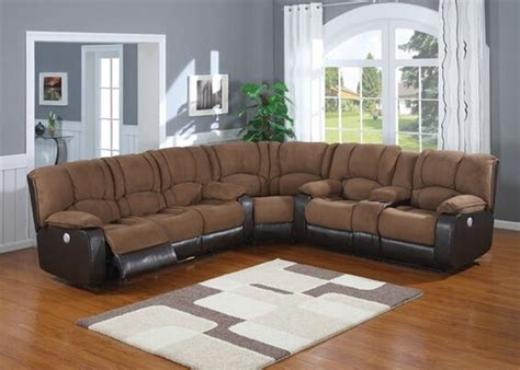 two tone leather sectional sofa 3 pc 2 tone jagger mocha microfiber and leather like vinyl