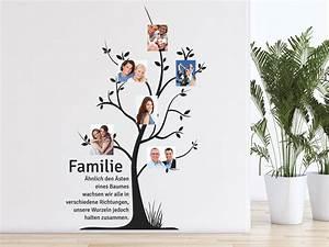 Wandtattoo Sprüche Familie : wandtattoo fotobaum familie ~ Frokenaadalensverden.com Haus und Dekorationen