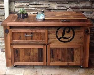 Reclaimed Cooler Bar Cabinet - Reclaimed,… Rustic