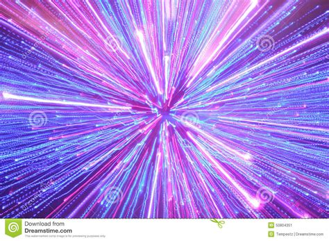Abstract Blue, Pink And Purple Lighting Streaks Stock