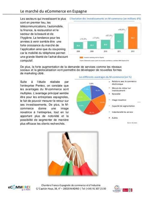 chambre de commerce franco nouveau dossier 2014 le marché du ecommerce en espagne