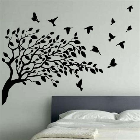wall decor ideas tree for walls white