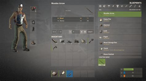 rust game steam pc account inventory ru gift region cis install craft interface late crafting screen equip sort user