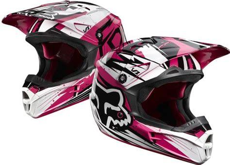 Pink Fox Racing Helmet.