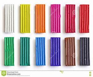 Set Of Colorful Plasticine Sticks Isolated On White