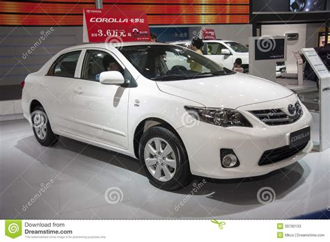toyota international white toyota corolla car editorial stock photo image