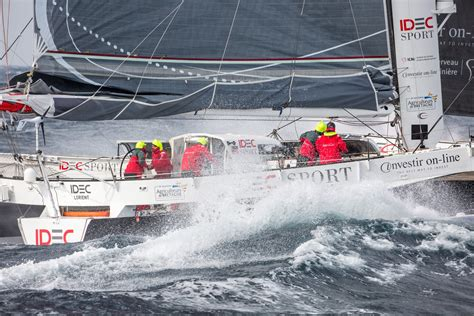 Trimaran Idec by Sailing News Troph 233 E Jules Verne Trimaran Idec Day 17