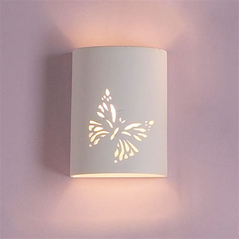 7 quot ceramic cylinder sconce w butterfly graphic traditional ceramic interior wall sconces