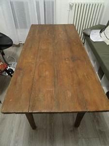 Table En Bois Massif Ancienne : table de ferme ancienne clasf ~ Teatrodelosmanantiales.com Idées de Décoration