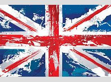 Gemalter Union Jack bemalte Tapete Murals Wallpaper