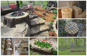 12 Ways To Repurpose Tree Stumps and logs - Home and