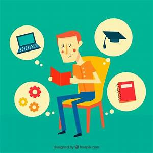 Education background with boy reading Vector | Free Download