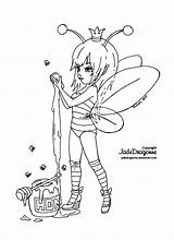 Deviantart Jadedragonne Queen Lineart Coloring Bee Fairy Pages Adult Jade Adults Dragonne Outline Line Bees Dragon Fairies Abeille Dessin Cute sketch template