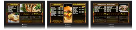 digital menu board templates corndigital digital menu board templates